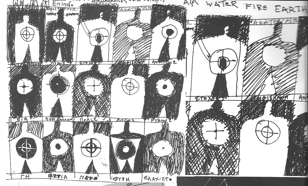 Drawings of Targets in 1994 by Rinos Stefani