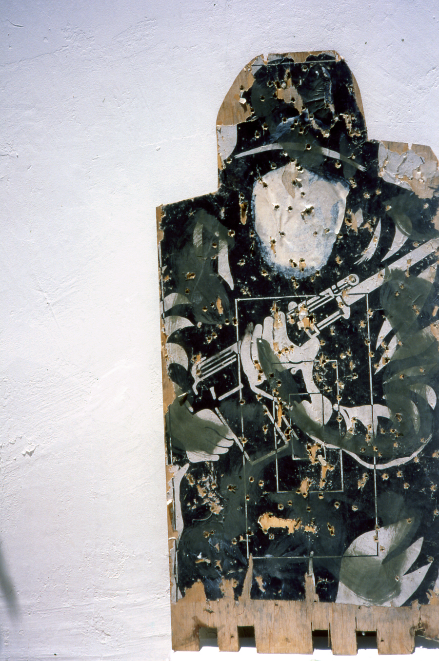 An image of soldier as a target
